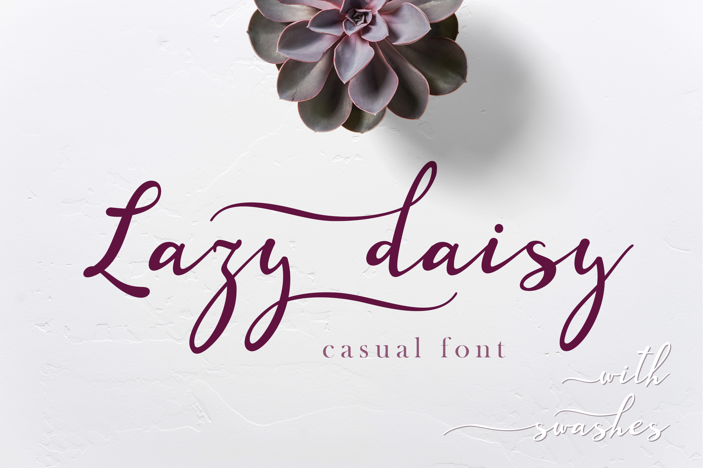 Lazy Daisy - calligraphy font with swashes example image 2