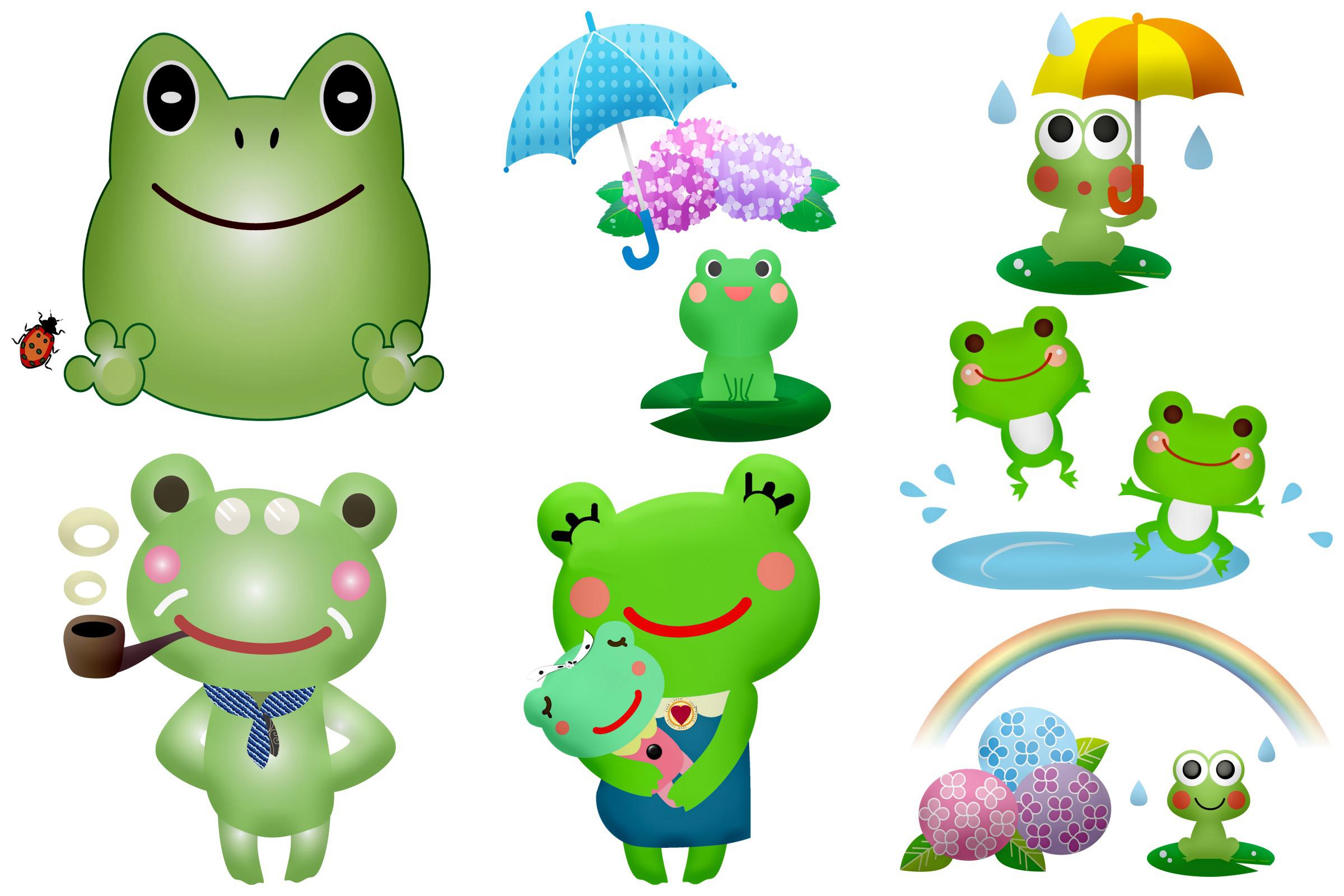 Kawaii Frogs & Friends Cute Clip Art example image 4