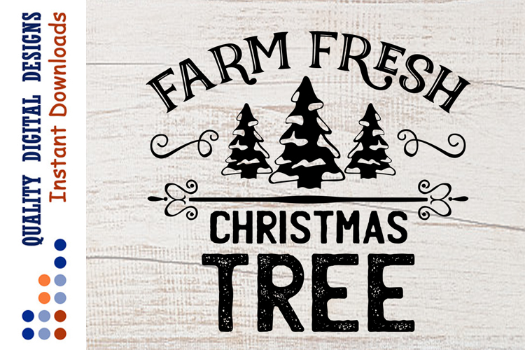 Farm Fresh CHRISTMAS Tree SVG Farm svg example image 1