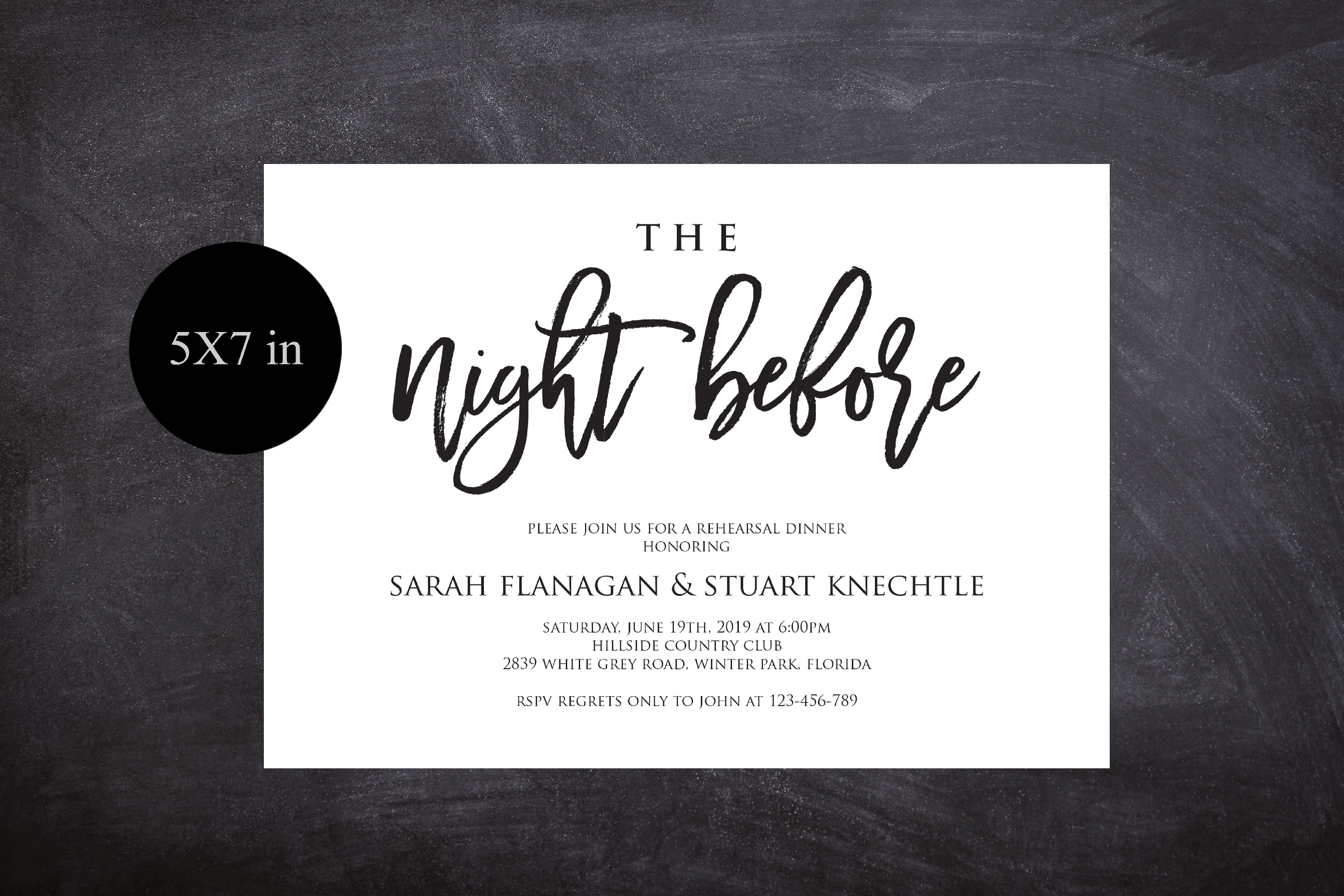 The Night Before Rehearsal Dinner Invitation Template Modern example image 3