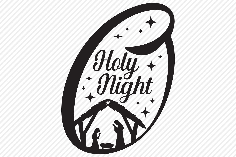 O Holy Night SVG, Cut File, Christmas Holiday Shirt Design example image 2