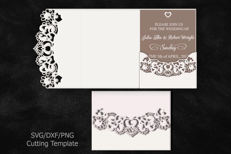 How Big Are Wedding Invitations: Bundle Big Set Wedding Invitations Svg Laser Cut Templates