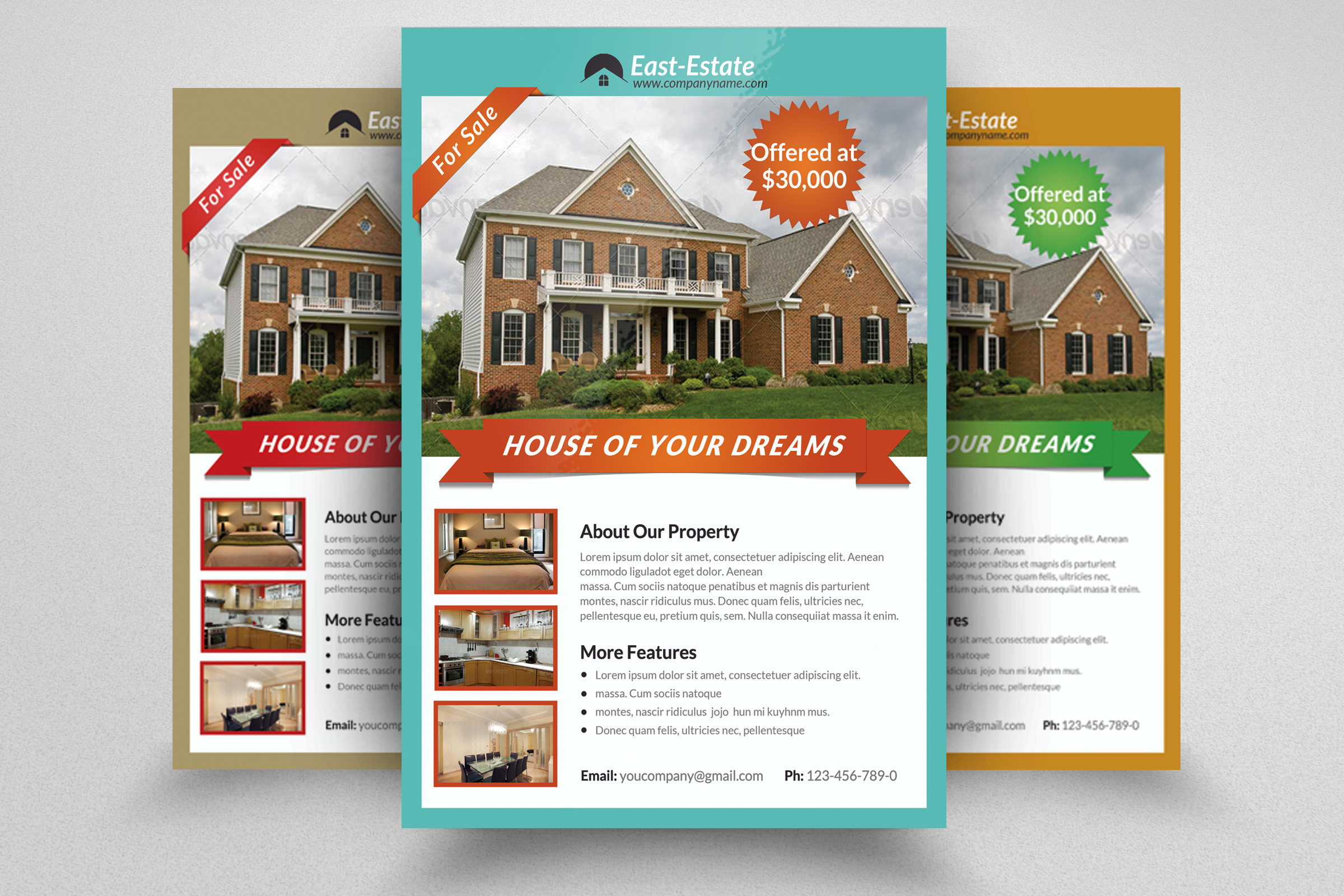 6 Real Estate Business Flyers Bundle example image 5