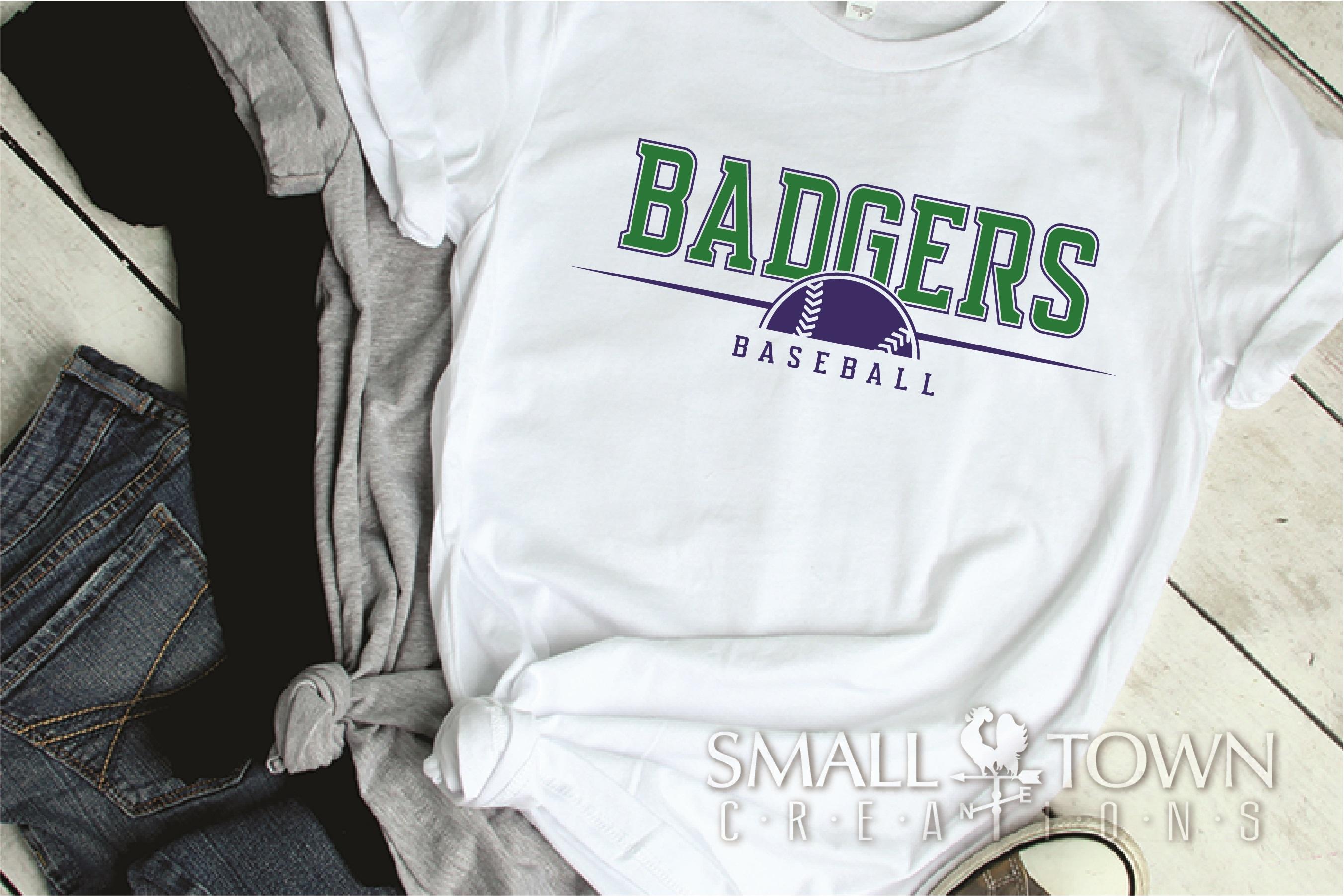 Badger, Badger Baseball Team, Sport, PRINT, CUT & DESIGN example image 2