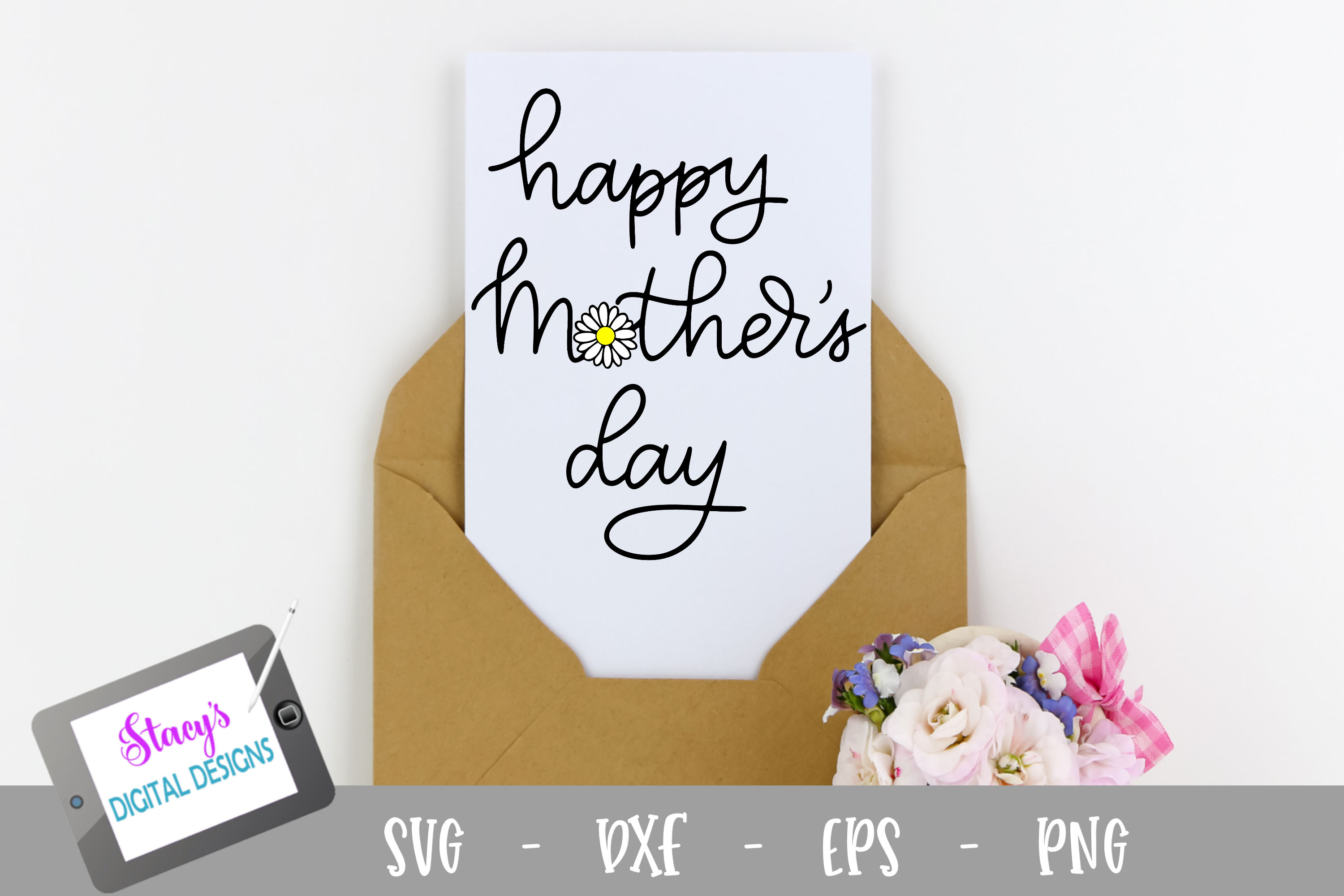 Happy Mother's Day SVG - with Daisy example image 1