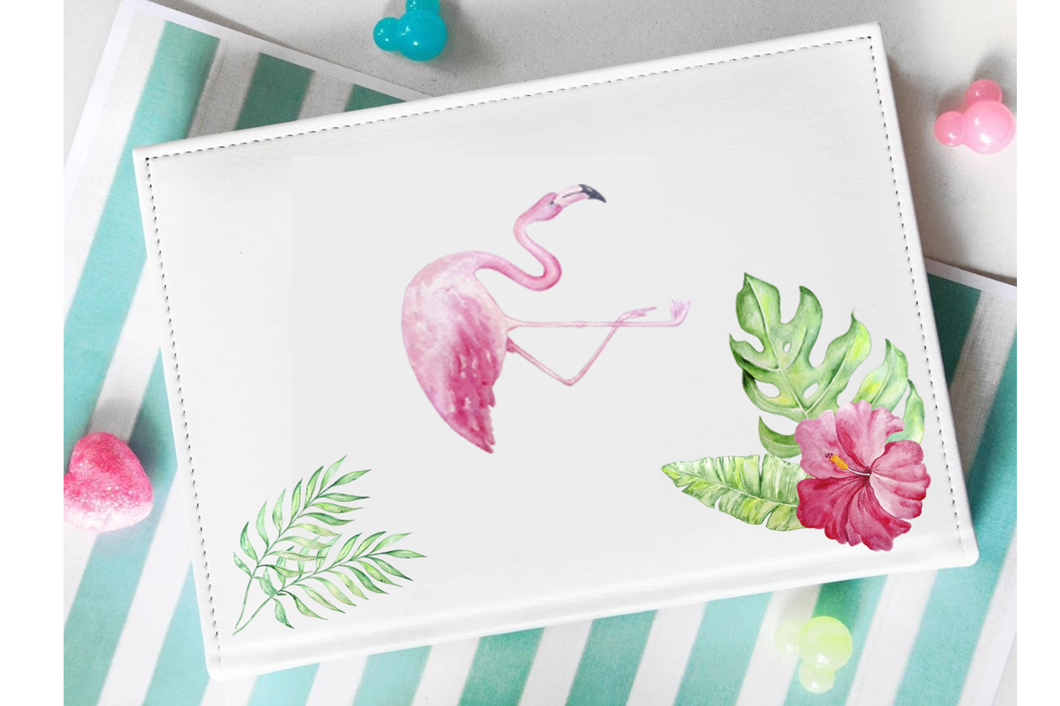 Tropical Watercolor Clipart Set example image 4