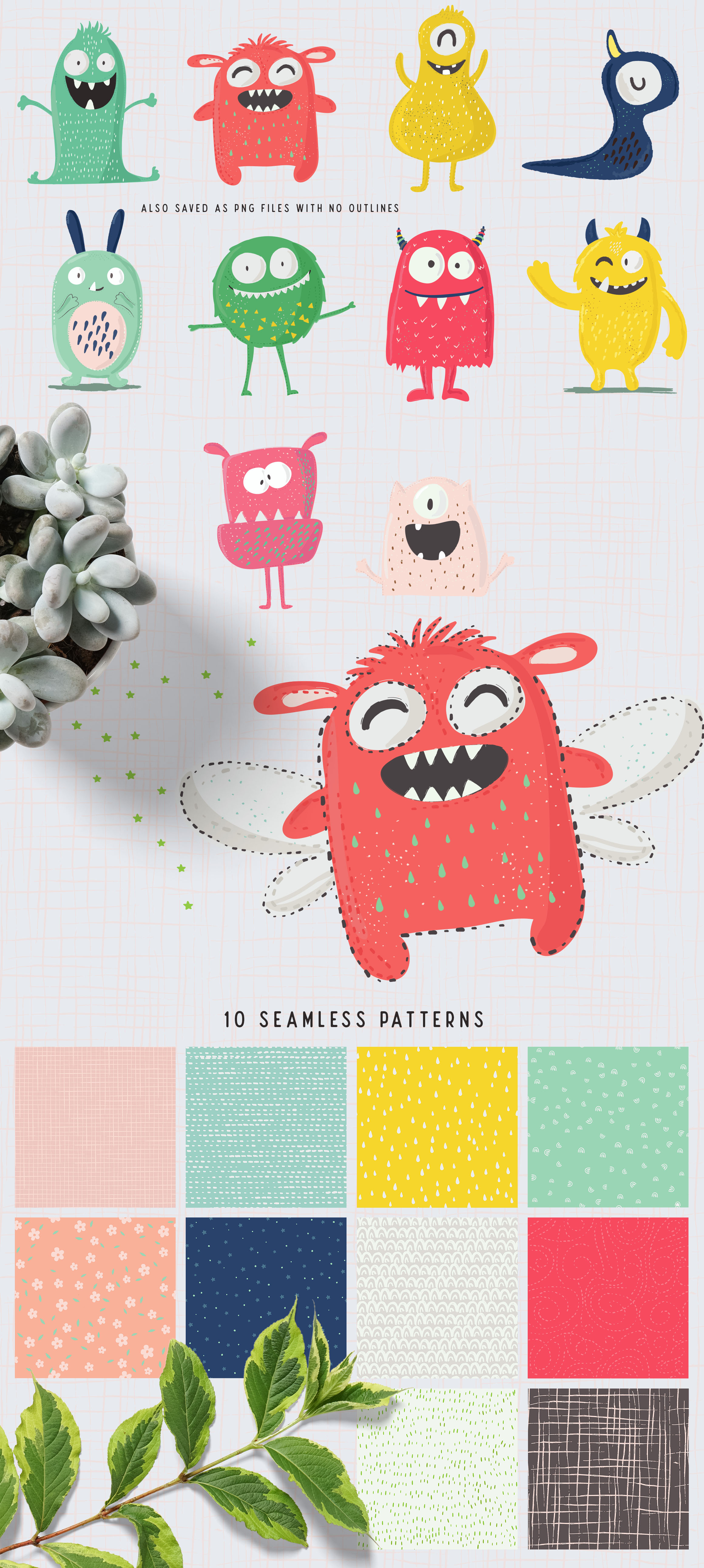 Happy Creatures Illustrations example image 2