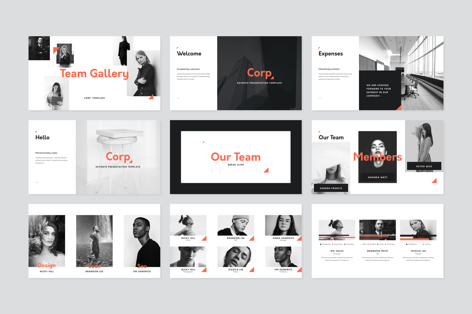 Corp Keynote Presentation Template example image 3