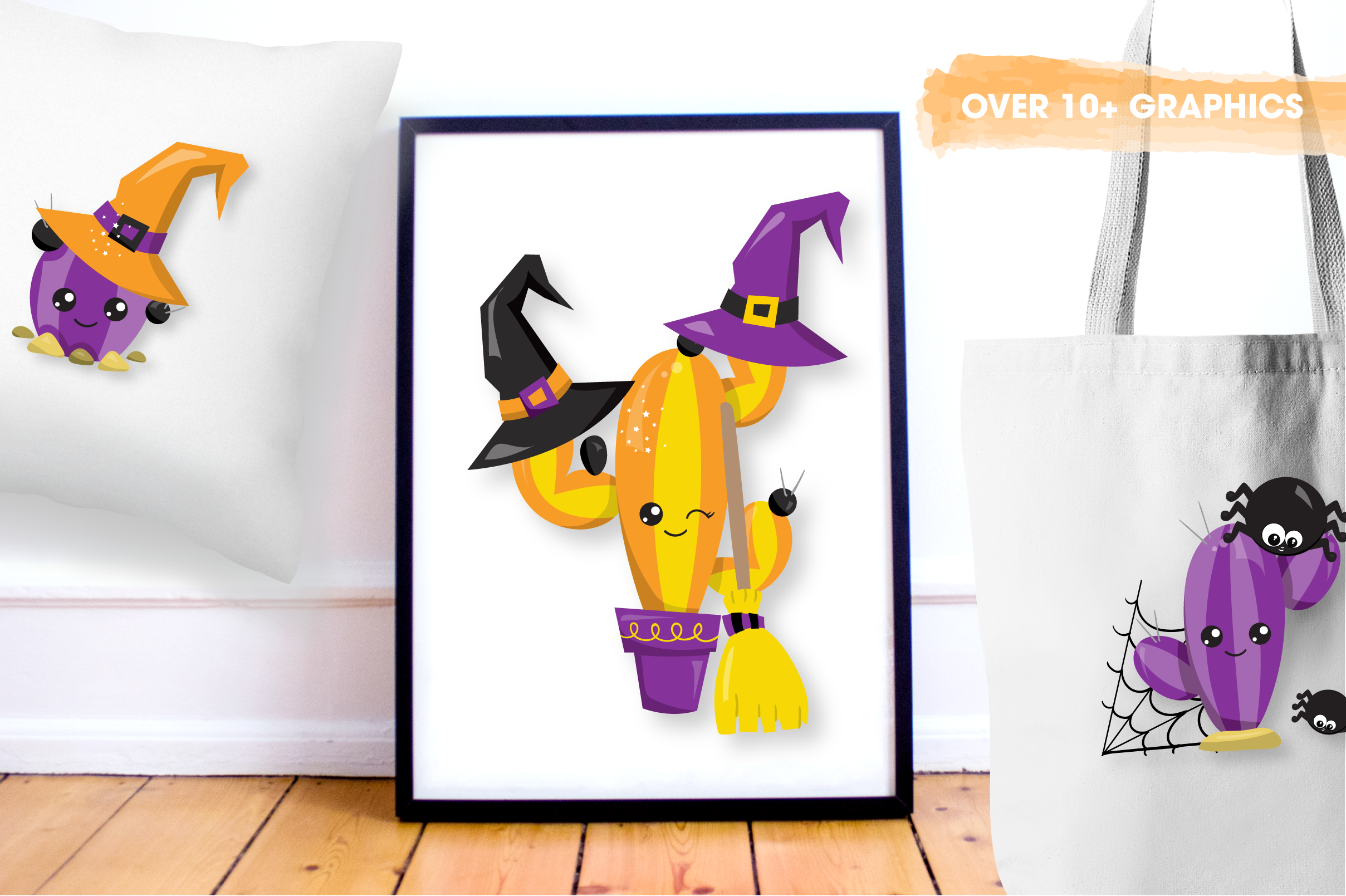 Halloween cactus graphics and illustrations example image 5