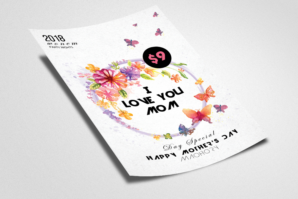Happy Mothers Day Flyer example image 2