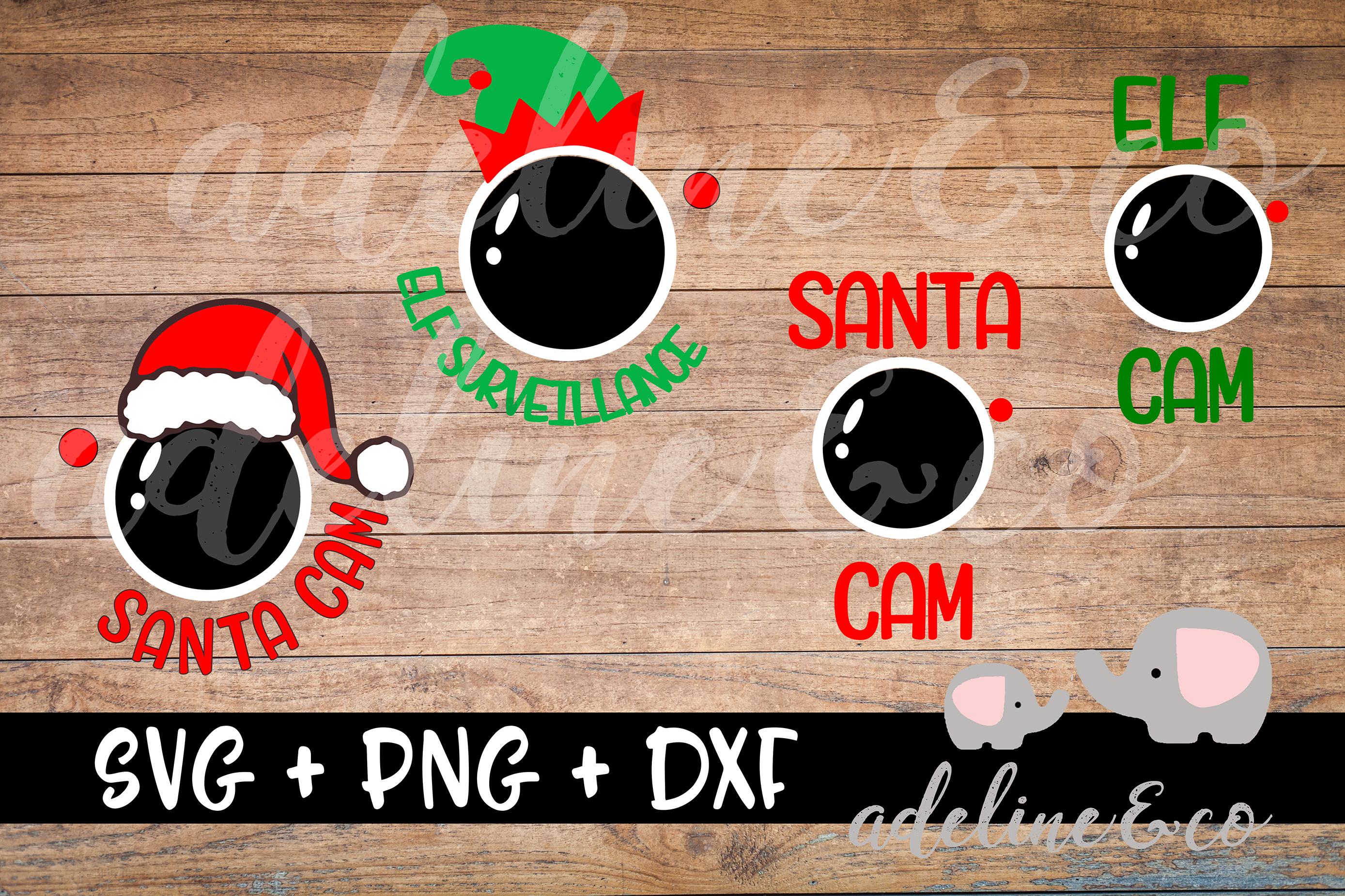 Santa Cam, Elf cam, Bundle SVG PNG DXF example image 1