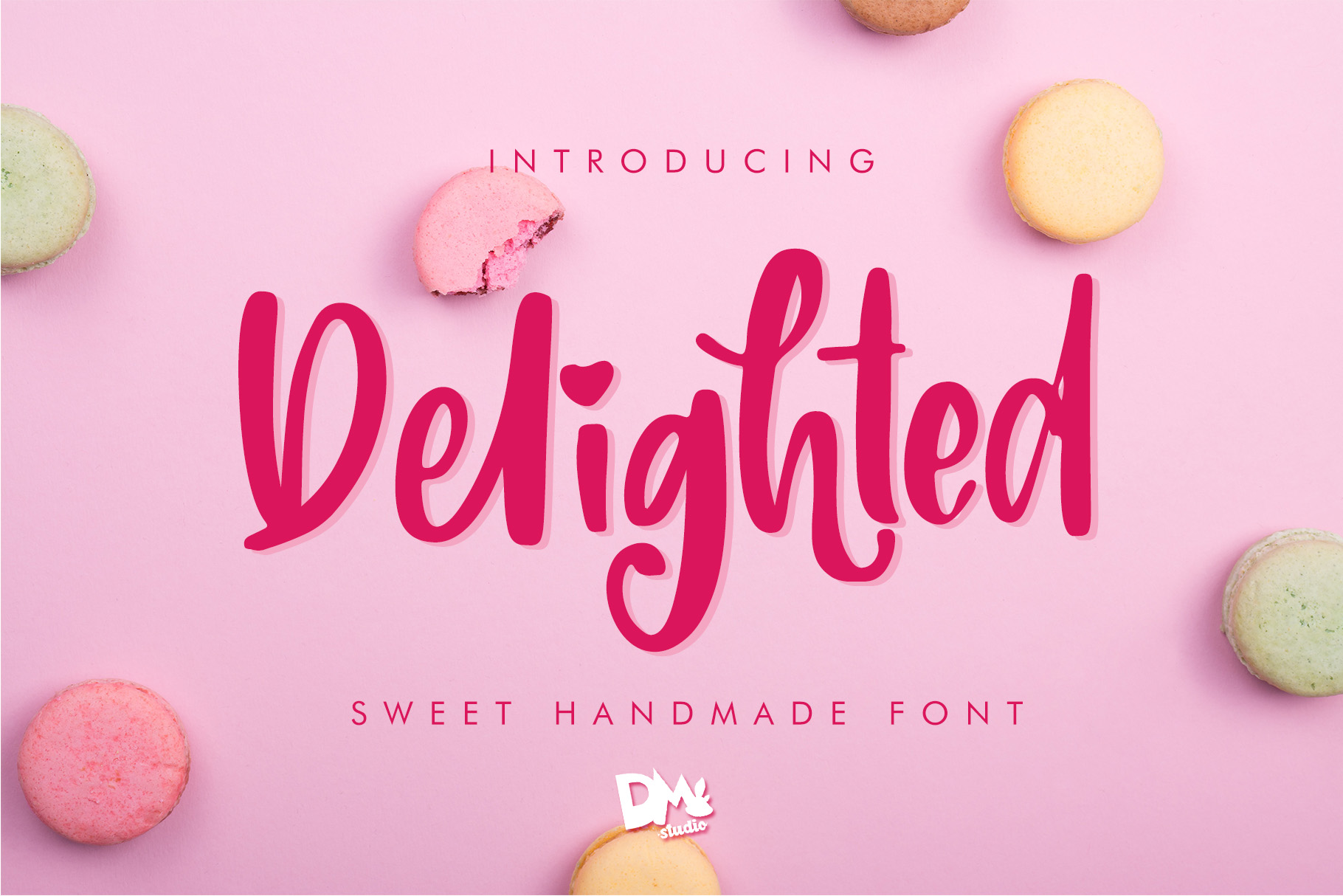 Delighted Sweet Handmade Font example image 1