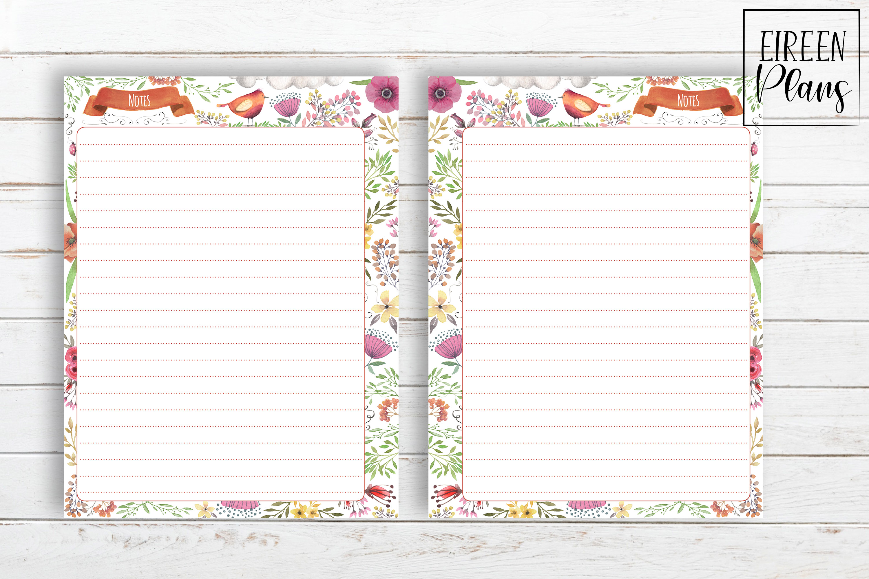 Notes Printable for Classic Happy Planner example image 2