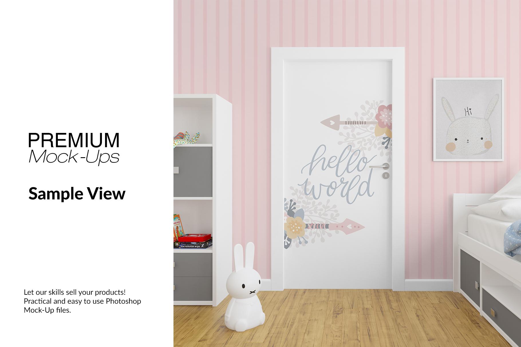Door Murals in Nursery Set example image 7