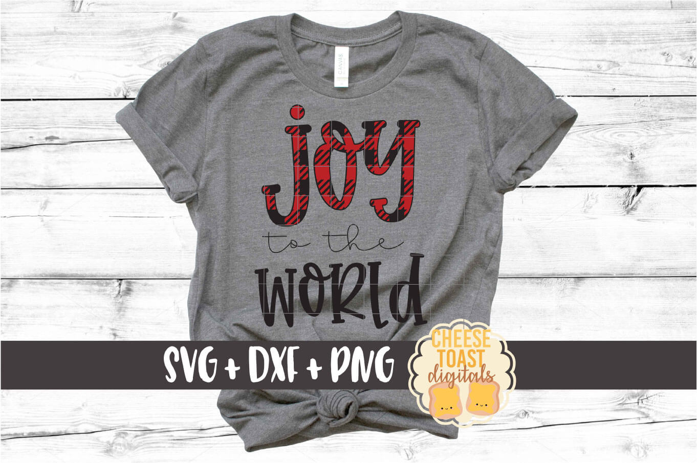 Joy To The World - Christmas SVG PNG DXF Cut Files example image 1