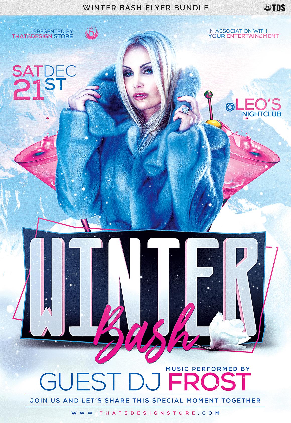 Winter Bash Flyer Bundle example image 14