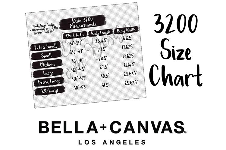 Bella 3200 Size Chart - 3200 Measurement Chart example image 1