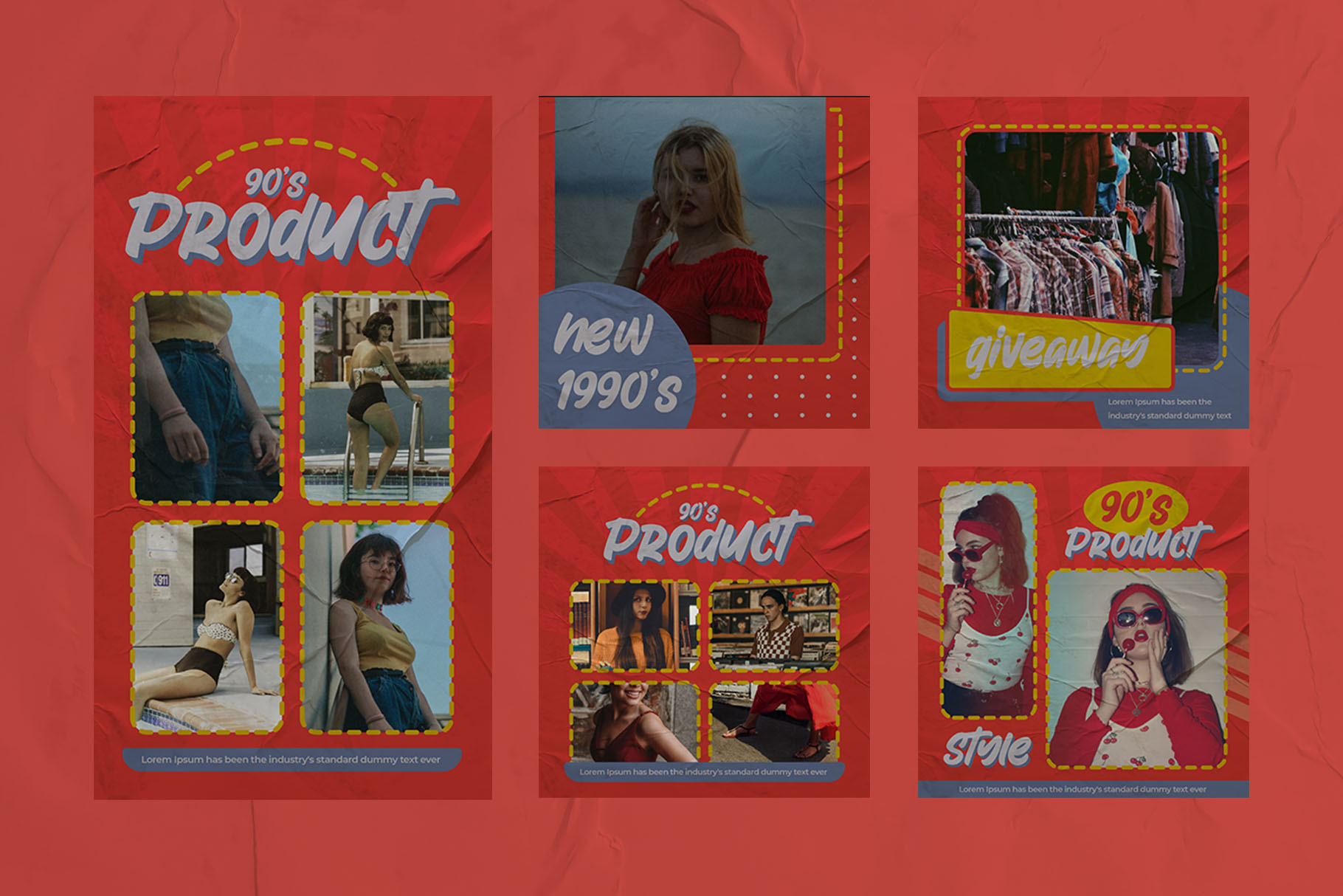 Fashion 90's Instagram Templates example image 7