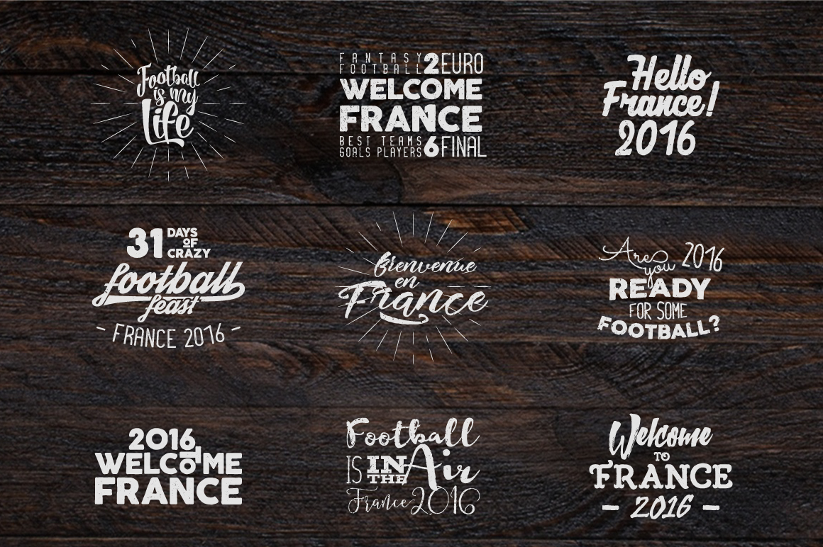 France 2016 Football Euro Labels example image 3