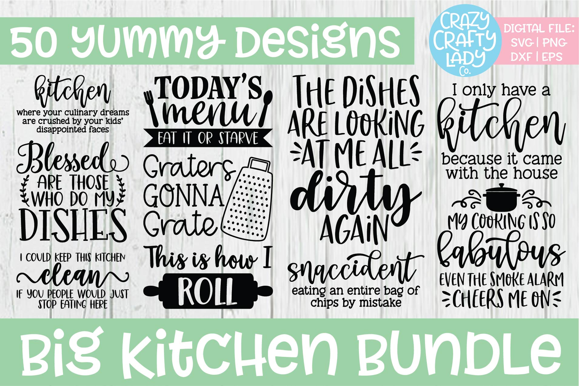 Big Kitchen SVG DXF EPS PNG Cut File Bundle example image 1