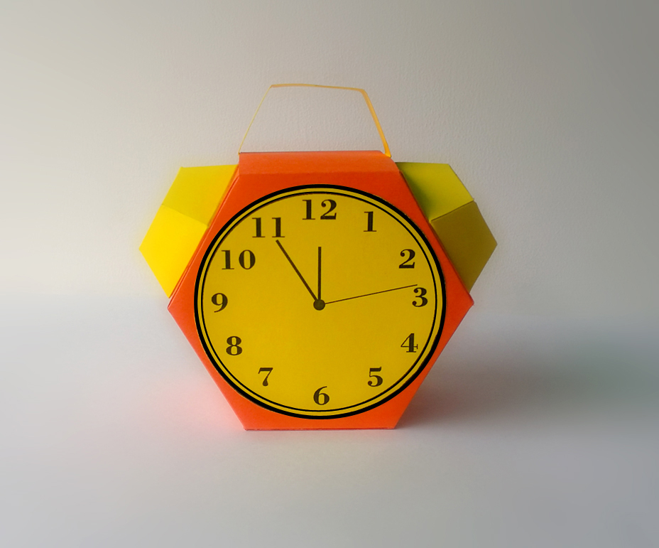 DIY Alarm favor - 3d papercraft example image 3