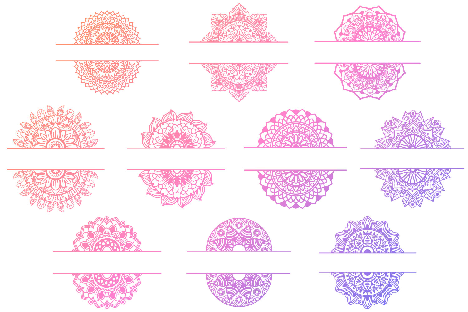 Mandala Bundle II - 25 SVG cut files example image 4