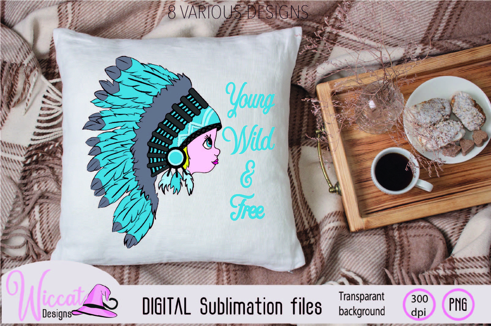 Girl with Headdress sublimation file example image 6