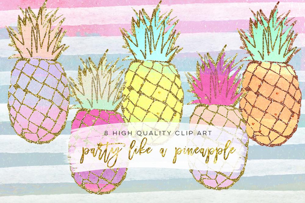 pineapple clip art, Gold Pineapples, gold pineapple clip ...