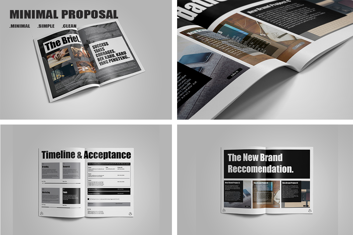 Minimal Proposal Template example image 4
