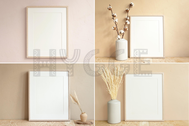 Frame Mockup Bundle, Minimalist Frame Mockup, Poster Mockup example image 8