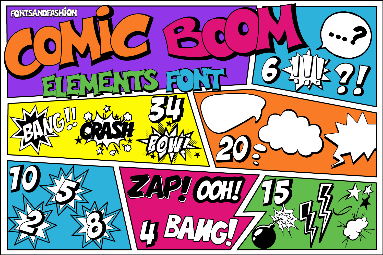 Comic Boom Elements example image 3