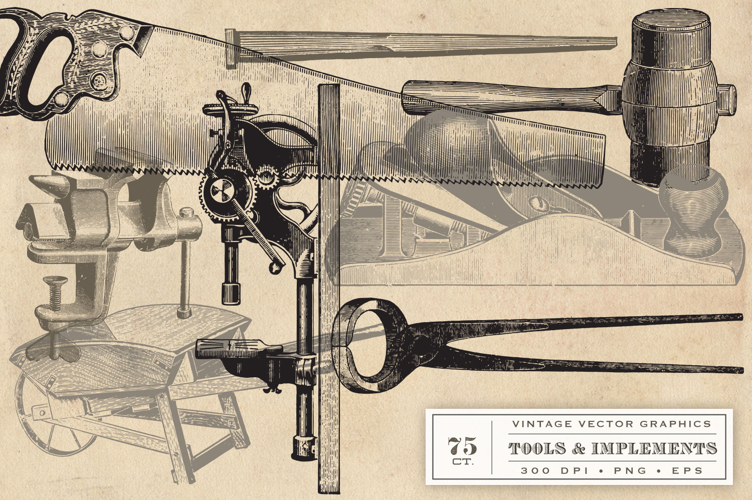 Vintage Tool & Implement Graphics example image 2