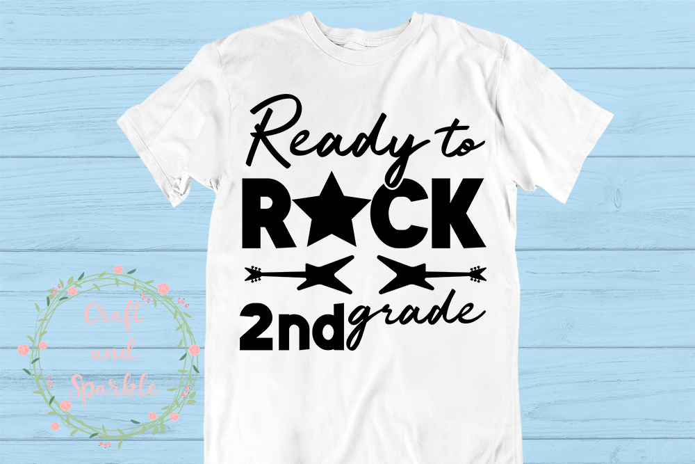 Ready to Rock 2nd Grade svg - School Students svg cut file example image 1
