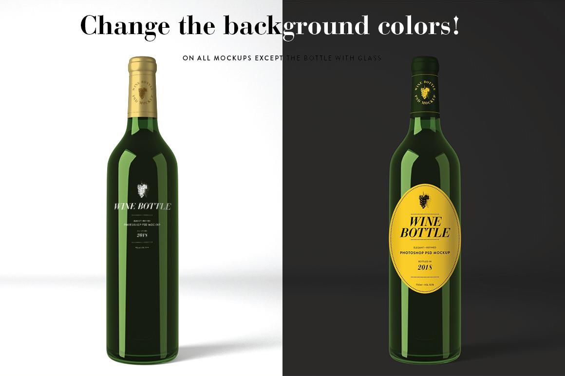 Wine Mockup Set - Photoshop PSD example image 3