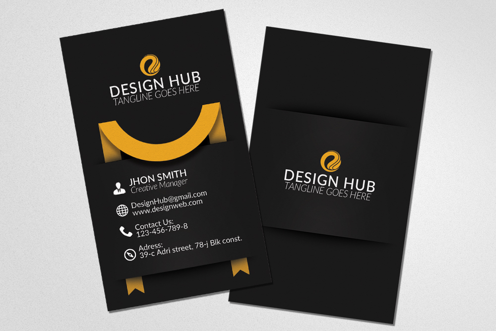 Vertical Ribbon Business Cards  example image 3