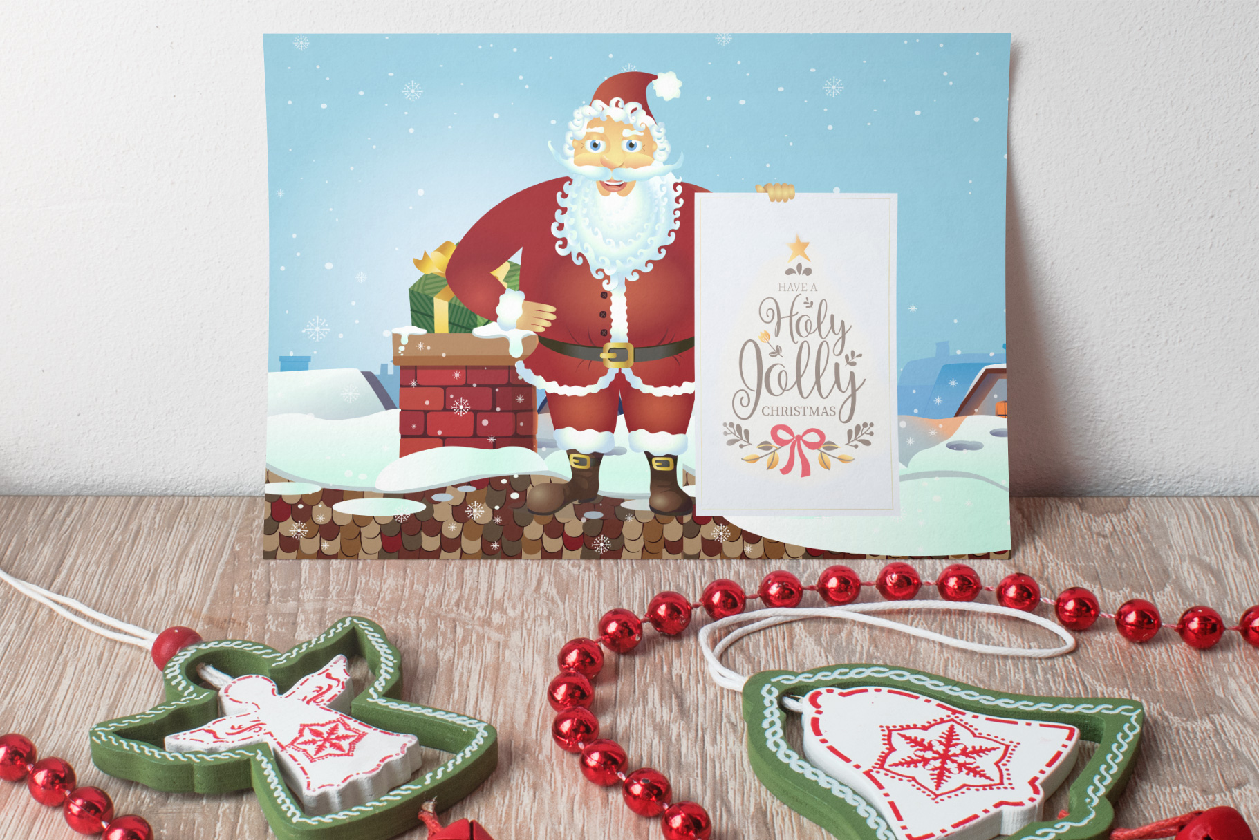Happy Santa Merry Christmas Set vector collection example image 6