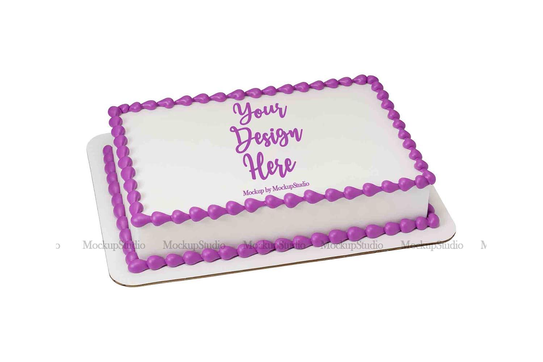 Sheet Cake Mockup Bundle, Edible Cake Print Mock Up Display example image 4