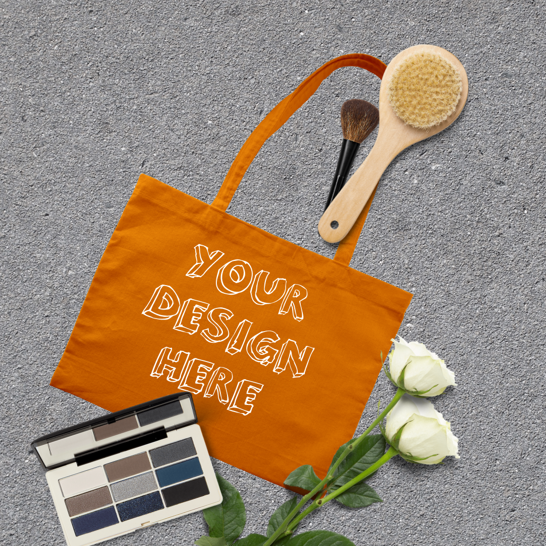MEGA Bundle|Tote Bag Mockups with White Roses & Makeup Brush example image 6