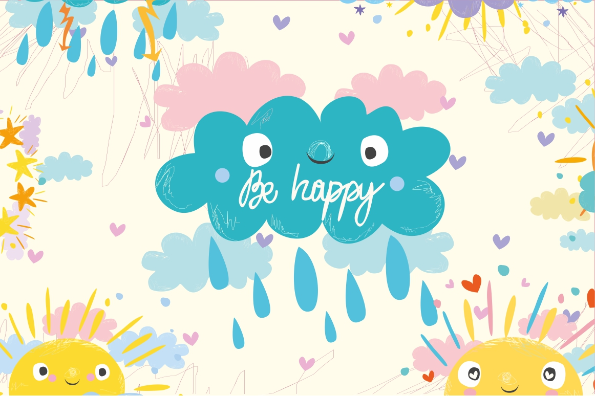 Cute sun and cloud example image 4