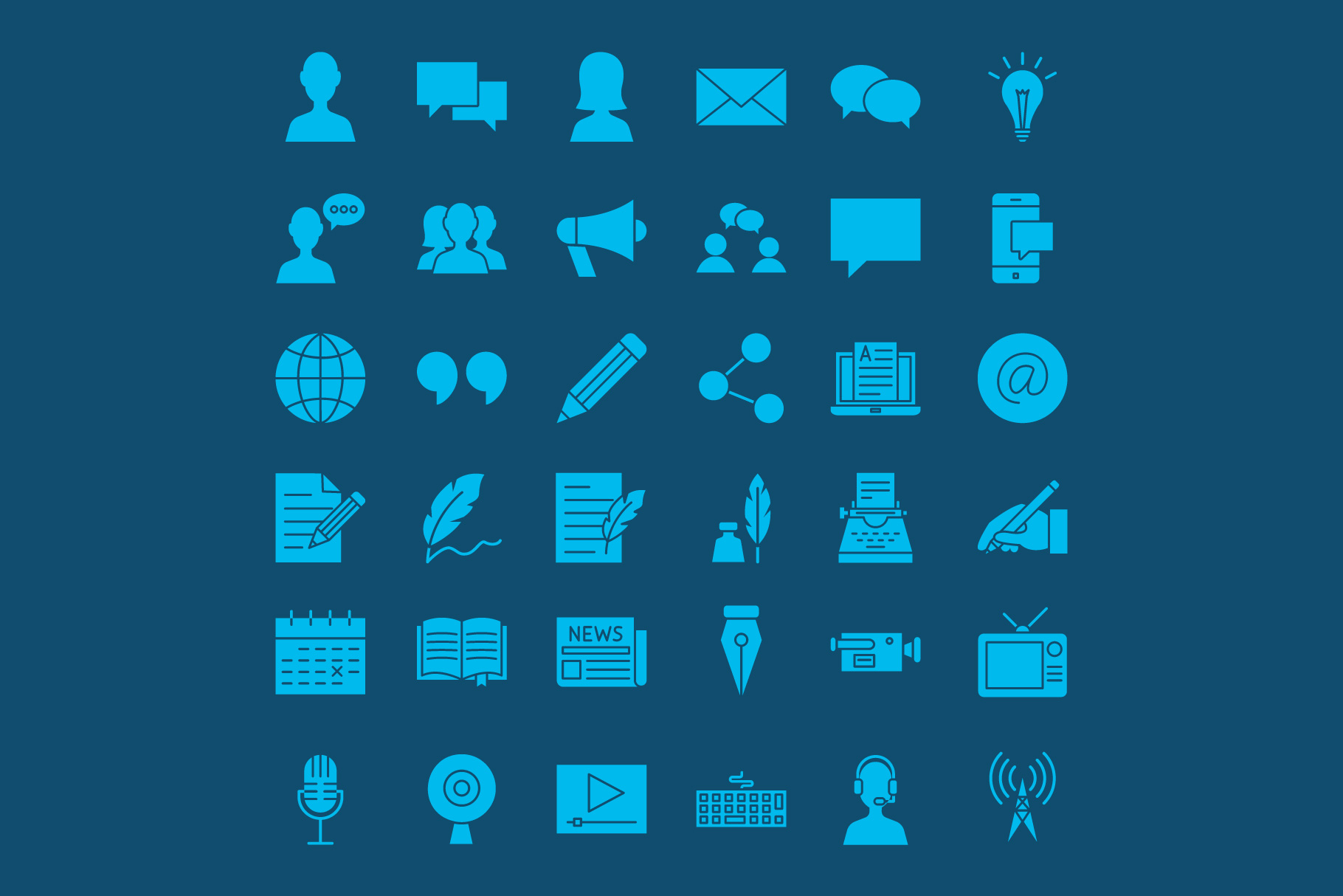 Blog Line Art Icons example image 2