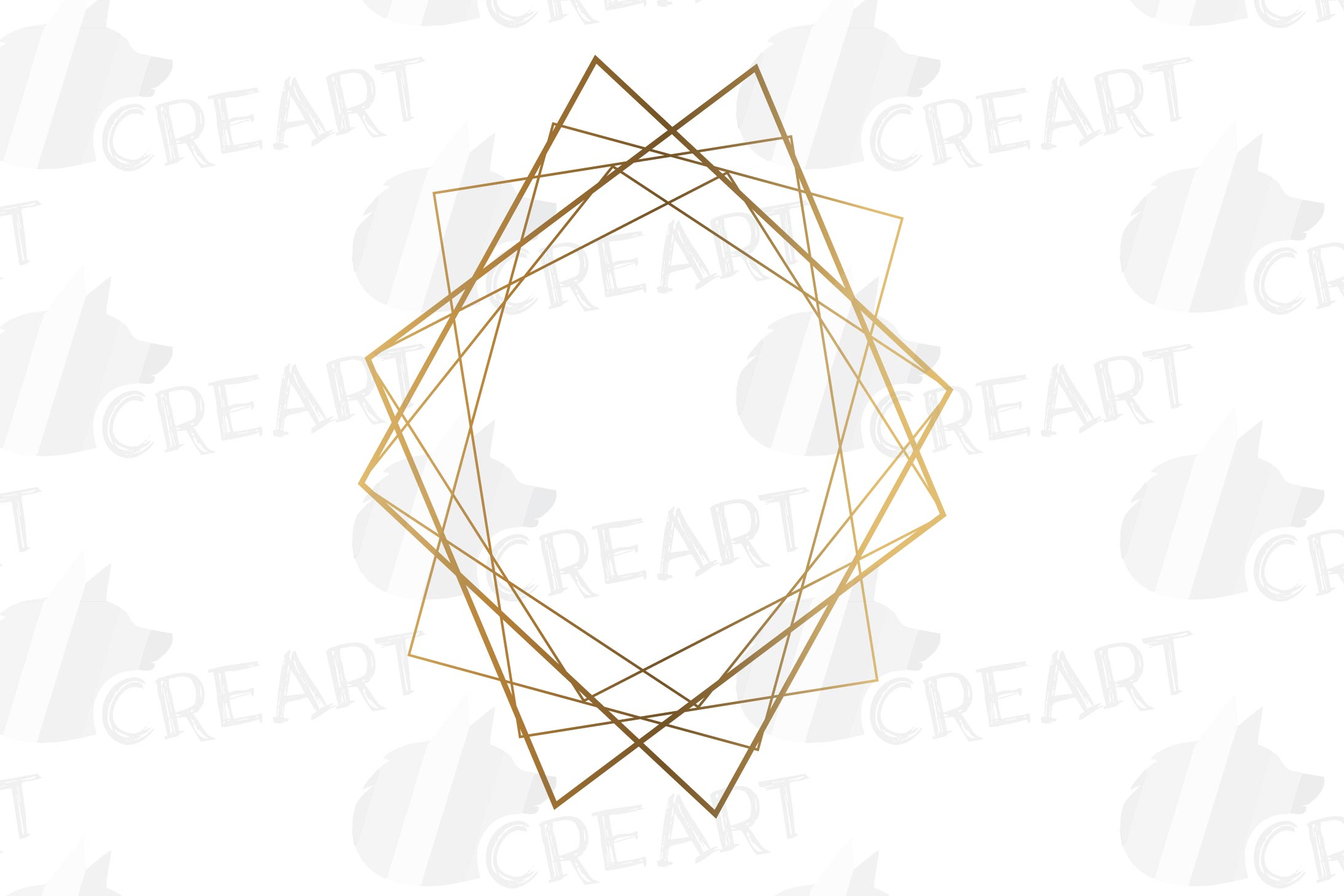 Elegant wedding geometric golden frames, lineal frames svg example image 19