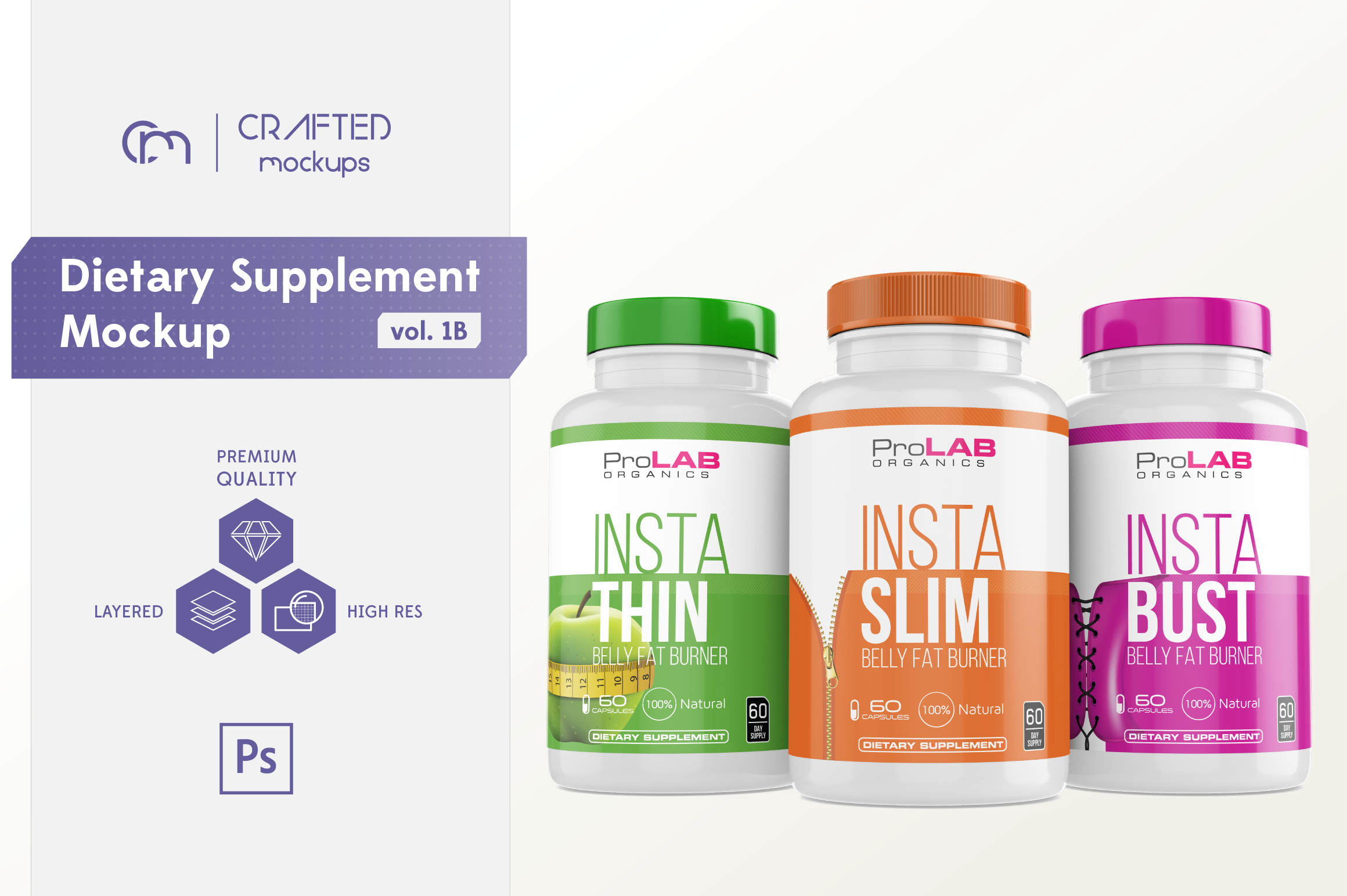 Dietary Supplement Mockup v. 1B example image 1