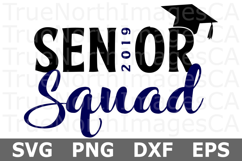 Senior Squad - A School SVG Cut File example image 2