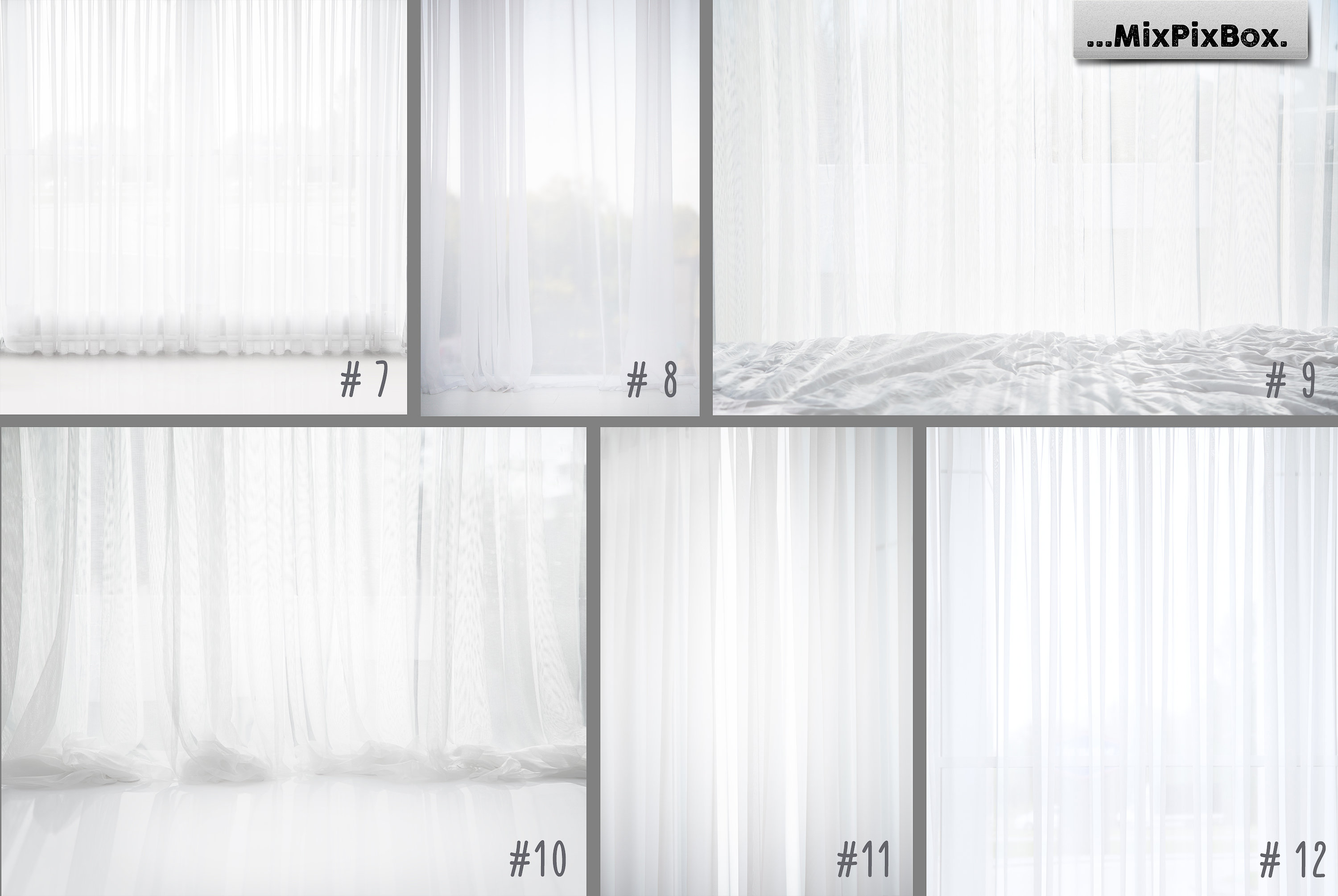 White Sheer Curtain Backgrounds example image 5