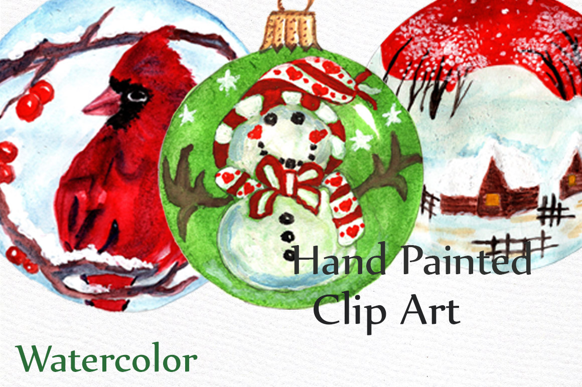 Christmas ornaments clip art example image 4