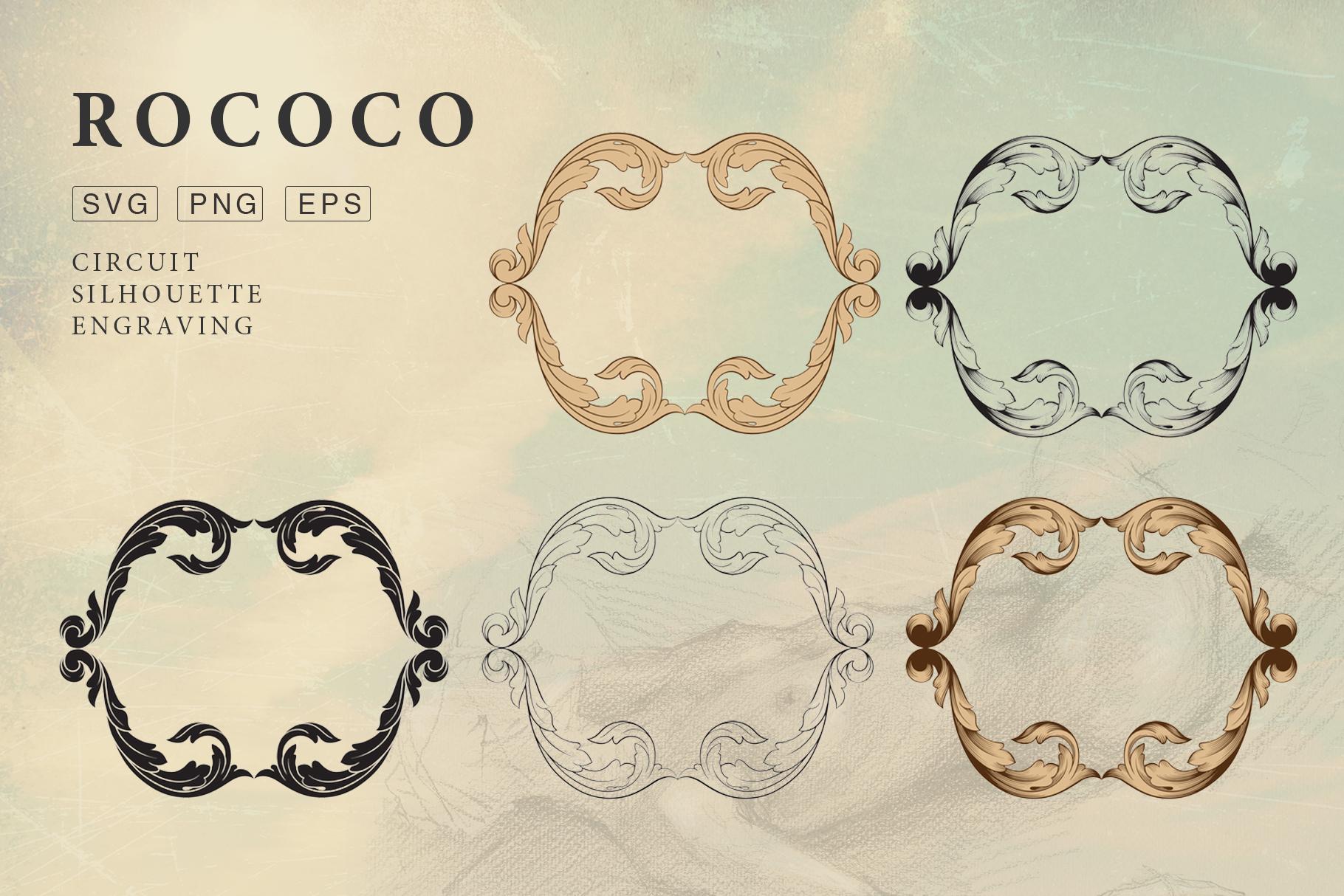 Rococo Romance Ornament page decor example image 11