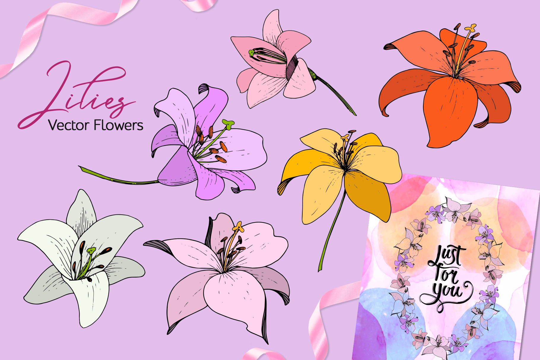 Lilies Vector Collection example image 3