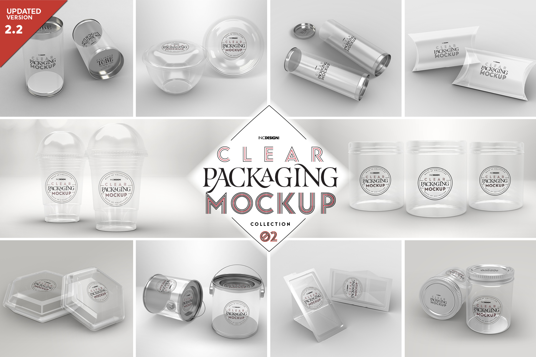 VOL.2 Clear Packaging Mockup Collection example image 1
