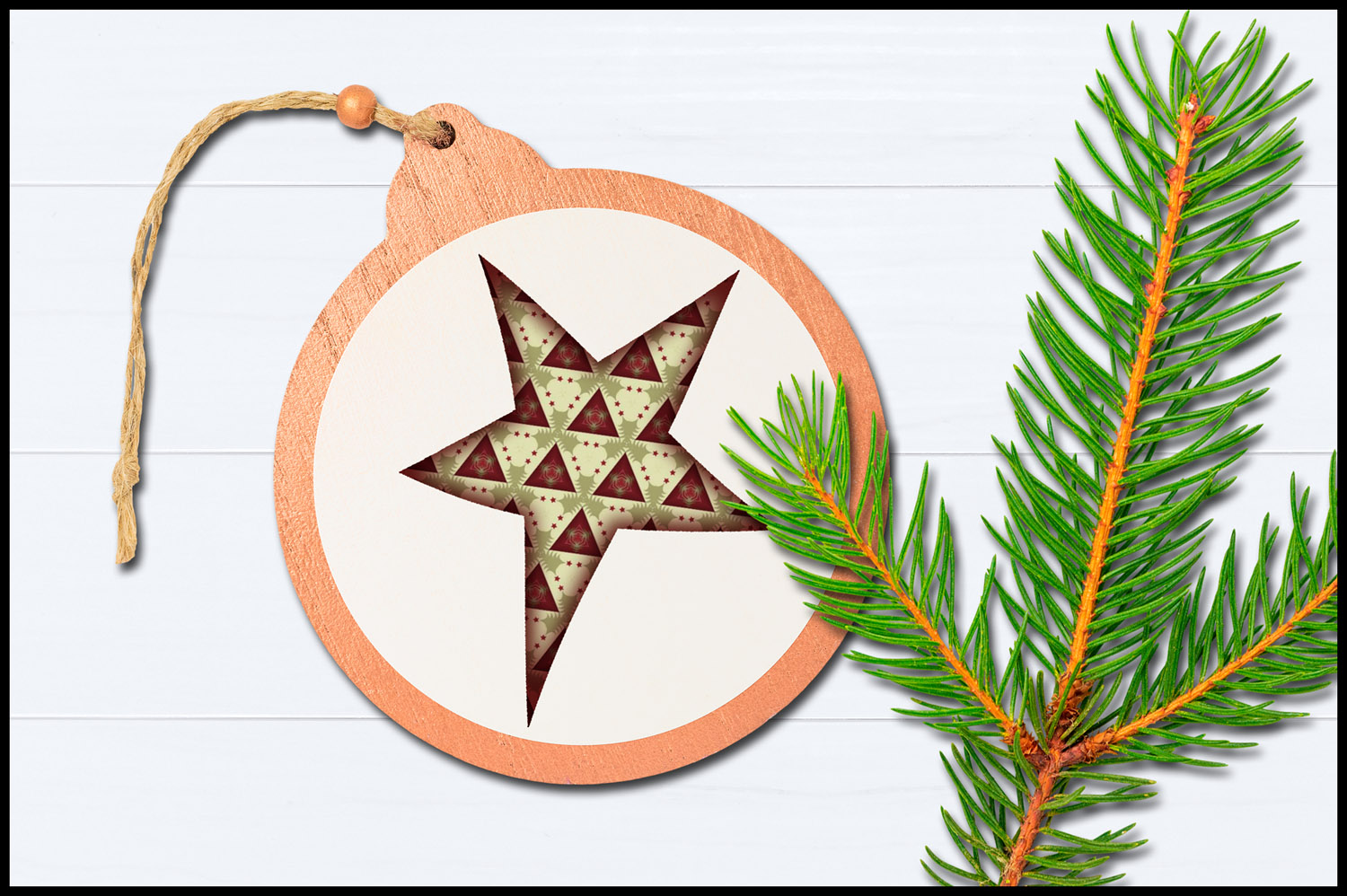 Christmas Clip Art, Holiday Primitive Stars example image 4