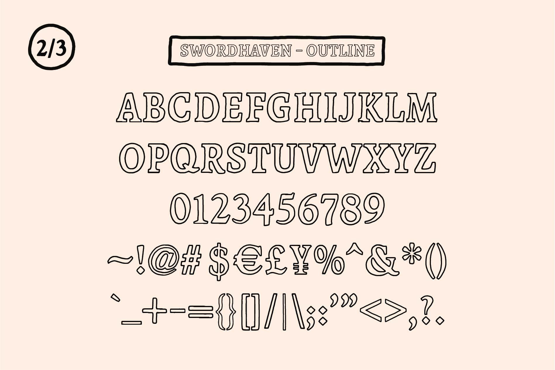 SWORDHAVENEN Font example image 4
